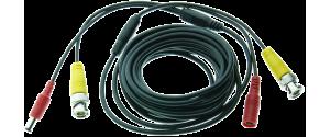 Cablu supraveghere sertizat  5m, semnal video (BNC M-M) si alimentare (DC M-T)