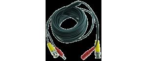 Cablu supraveghere sertizat 10m, semnal video (BNC M-M) sau alimentare (DC M-T)