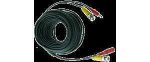 Cablu supraveghere sertizat 20m, semnal video (BNC M-M) sau alimentare (DC M-T)