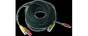 Cablu supraveghere sertizat 25m, semnal video (BNC M-M) sau alimentare (DC M-T)