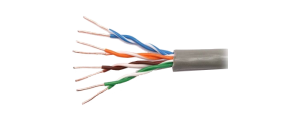 Cablu de date ecranat tip FTP categoria 5e cu fir solid din cupru