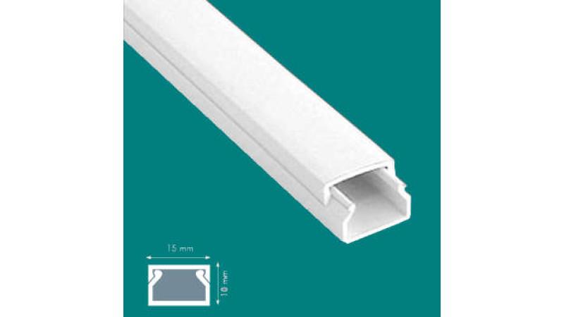 Canal cablu L=2 m, cu banda adeziva, alb