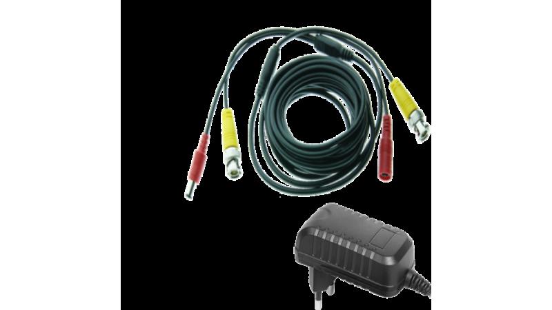 Kit alimentare si semnal pentru 1 camera - cablu 5m si alimentator 1A
