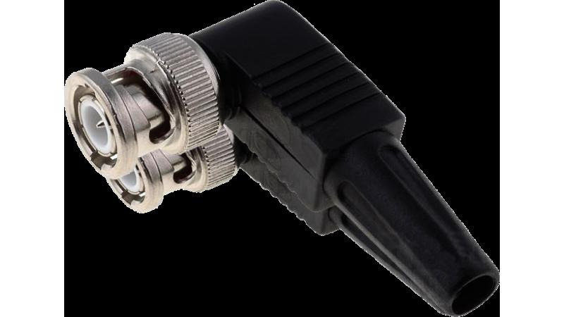 Conector BNC pentru cablu coaxial tip RG59, capac plastic, CON-BNC59P