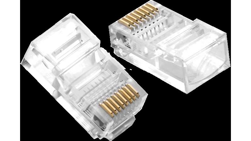 Conector RJ45 pentru cablu UTP CAT5e - CON-RJ45-CAT5