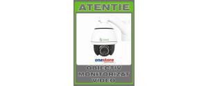 Sticker obiectiv monitorizat video