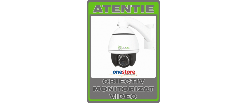 Sticker obiectiv monitorizat video