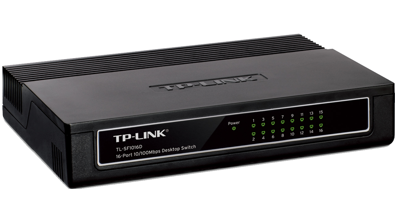 Switch de retea TP-LINK cu 16 porturi 10/100Mbps