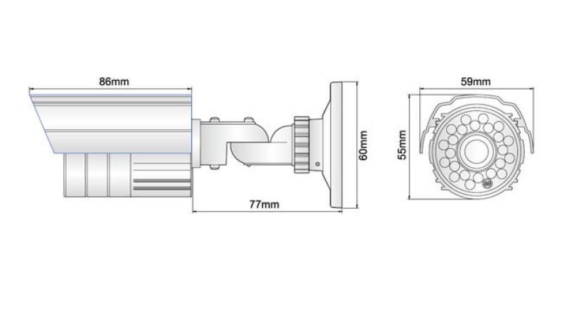 Camera de supraveghere exterior cu infrarosu CM-700P