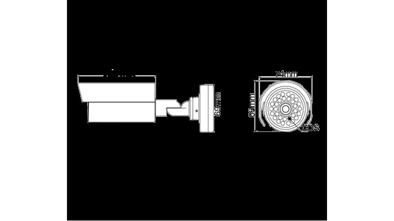 Camera de supraveghere exterior cu infrarosu RH-951E