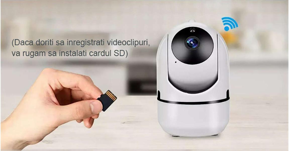 Înregistrare pe card micro SD card, pana la 256GB