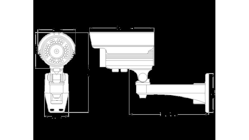 Camera de supraveghere exterior cu infrarosu RH-40ESHD