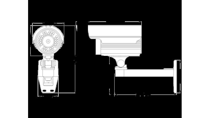 Camera de supraveghere exterior cu infrarosu SI-940B