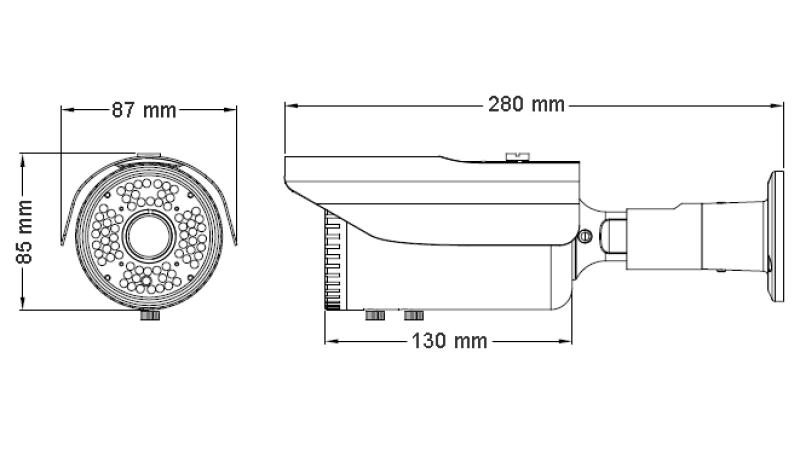 Camera de supraveghere exterior cu DSP profesional Sony Effio-V infrarosu TAV-8EFV
