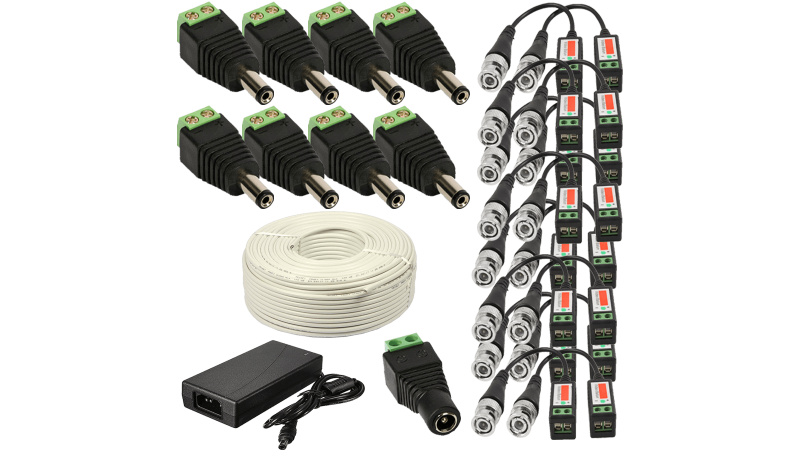 8 Camere 2MP 1080P IR 20m kit COMPLET supraveghere Exterior 1080N extensibil la 16, acces mobil, noapte/zi (1x Inregistrator ESR-6516N; 8x Camere Exterior BEN-MHD2; 1x HDD320GB-R Stocare CADOU si accesoriile incluse)