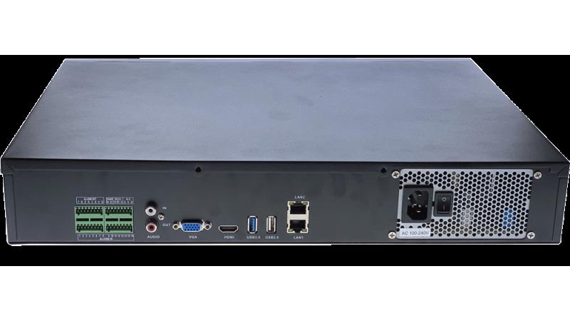NVR H.265+ / H.265 / H.264, 256Mb, cu 36 canale (36 x 5megapixeli sau 25 x 8megapixeli) compatibil ONVIF NVR-TS8436M