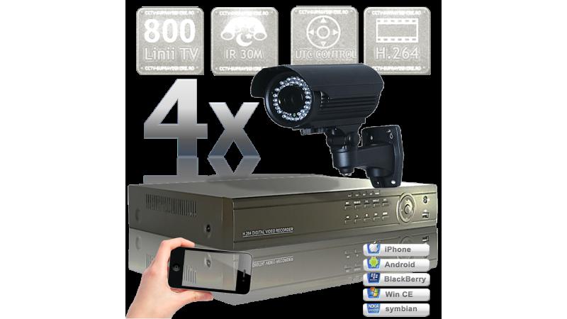 Sistem supraveghere video - 4 camere infrarosu exterior 800 UTC VF