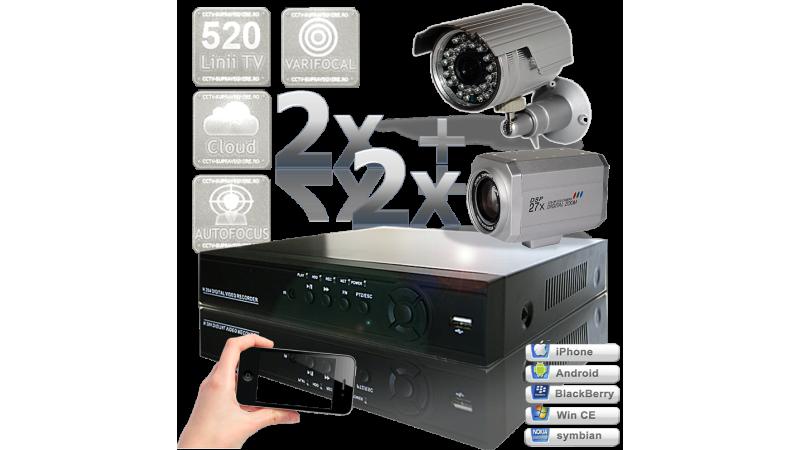 Sistem supraveghere video - 4 camere exterior 360