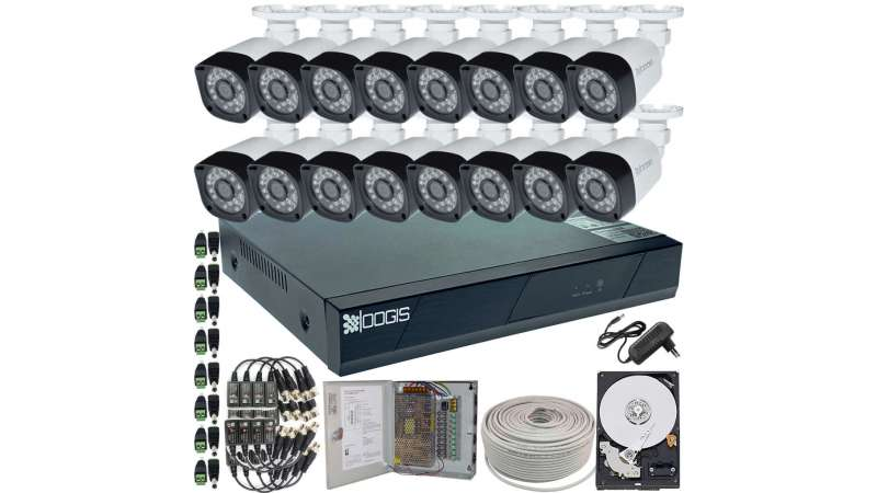 16 Camere 2MP 1080P IR 20m kit COMPLET supraveghere Exterior 1080N, acces mobil, noapte/zi (1x Inregistrator ESR-6516N; 16x Camere Exterior BEN-MHD2; 1x HDD500GB-R Stocare CADOU si accesoriile incluse)