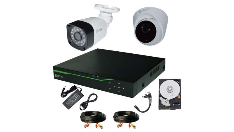 Sistem Supraveghere video COMPLET mixt 2 Camere HD 1080P 2MP cu vedere noaptea IR 25M extensibil 4 1080P (1x Inregistrator ESR-6304X; 1x Camere Exterior BEN-XHD2-8; 1x Camere Interior HIP-XHD2-8; 1x HDD250GB-R Stocare CADOU si accesoriile incluse)