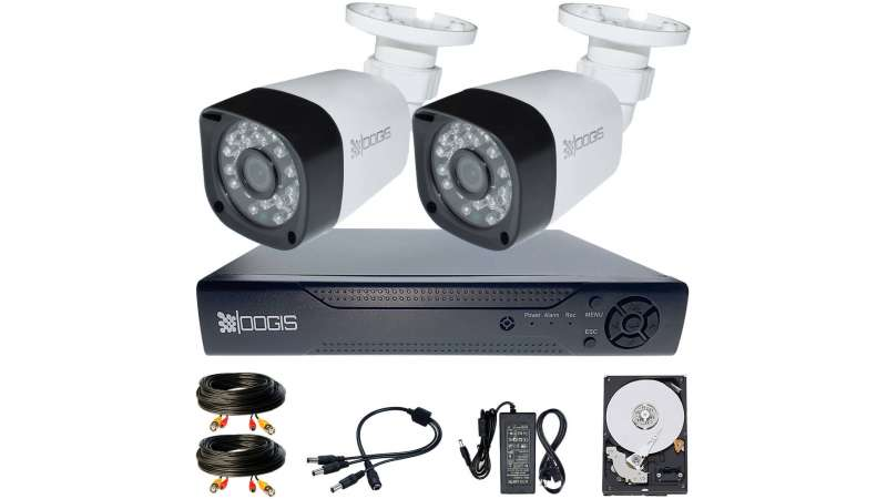 2 Camere 2MP 1080P IR 20m kit COMPLET supraveghere Exterior 1080N extensibil la 4, acces mobil, noapte/zi (1x Inregistrator MHR-A6204; 2x Camere Exterior BEN-MHD2; 1x HDD320GB-R Stocare CADOU si accesoriile incluse)
