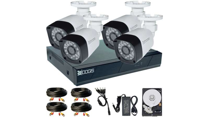 4 Camere 2MP 1080P IR 20m kit COMPLET supraveghere Exterior 1080N extensibil la 8, acces mobil, noapte/zi (1x Inregistrator ESR-6208N; 4x Camere Exterior BEN-MHD2; 1x HDD250GB-R Stocare CADOU si accesoriile incluse)