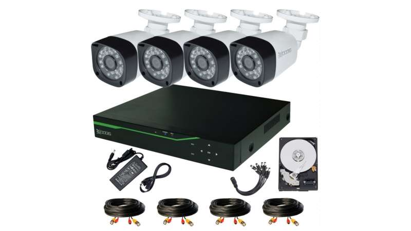 4 Camere 2MP 1080P IR 20m kit COMPLET supraveghere Exterior 1080P extensibil la 8, acces mobil, noapte/zi (1x Inregistrator MHR-A6508; 4x Camere Exterior BEN-MHD2; 1x HDD320GB-R Stocare CADOU si accesoriile incluse)
