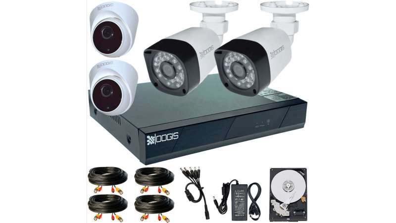 4 Camere 2MP 1080P IR 20m kit COMPLET supraveghere mixt 1080N, acces mobil, noapte/zi (1x Inregistrator ESR-6204N; 2x Camere Exterior BEN-MHD2; 2x Camere Interior HIP-MHD2-11; 1x HDD250GB-R Stocare CADOU si accesoriile incluse)