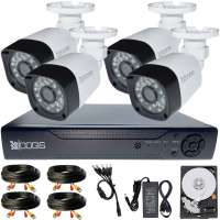 4 Camere 2MP 1080P IR 20m kit COMPLET supraveghere Exterior 1080N, acces mobil, noapte/zi (1x Inregistrator MHR-A6204; 4x Camere Exterior BEN-MHD2; 1x HDD320GB-R Stocare CADOU si accesoriile incluse)