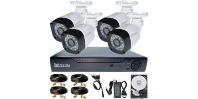 4 Camere 2MP 1080P IR 20m kit COMPLET supraveghere Exterior 1080N, acces mobil, noapte/zi (1x Inregistrator ESR-6204N; 4x Camere Exterior BEN-MHD2; 1x HDD250GB-R Stocare CADOU si accesoriile incluse)