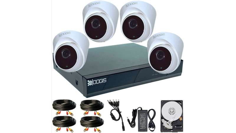 4 Camere 2MP 1080P IR 20m ARRAY kit COMPLET supraveghere Interior 1080N extensibil la 8, acces mobil, noapte/zi (1x Inregistrator ESR-6208N; 4x Camere Interior HIP-MHD2-11; 1x HDD250GB-R Stocare CADOU si accesoriile incluse)