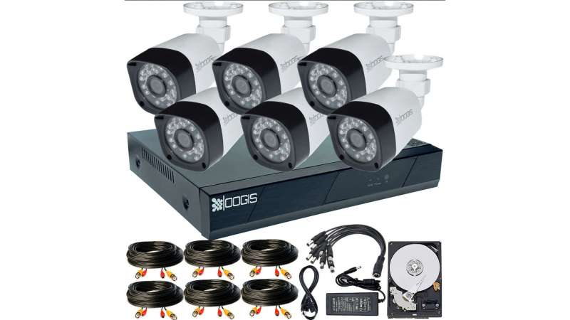 6 Camere 2MP 1080P IR 20m kit COMPLET supraveghere Exterior 1080N extensibil la 8, acces mobil, noapte/zi (1x Inregistrator ESR-6208N; 6x Camere Exterior BEN-MHD2; 1x HDD250GB-R Stocare CADOU si accesoriile incluse)