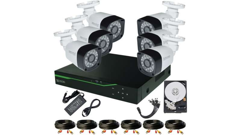 6 Camere 2MP 1080P IR 20m kit COMPLET supraveghere Exterior 1080P extensibil la 8, acces mobil, noapte/zi (1x Inregistrator MHR-A6508; 6x Camere Exterior BEN-MHD2; 1x HDD320GB-R Stocare CADOU si accesoriile incluse)