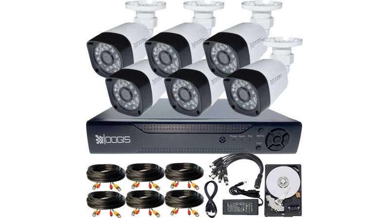 6 Camere 2MP 1080P IR 20m kit COMPLET supraveghere Exterior 1080N extensibil la 8, acces mobil, noapte/zi (1x Inregistrator MHR-A6208; 6x Camere Exterior BEN-MHD2; 1x HDD320GB-R Stocare CADOU si accesoriile incluse)
