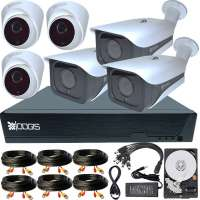 6 Camere 5MP 1920P IR 35m ARRAY kit COMPLET supraveghere mixt 1920N extensibil la 8, acces mobil, noapte/zi (1x Inregistrator ESR-6508N; 3x Camere Exterior RST-MHD54-9L; 3x Camere Interior HIP-MHD54; 1x HDD320GB-R Stocare CADOU si accesoriile incluse)