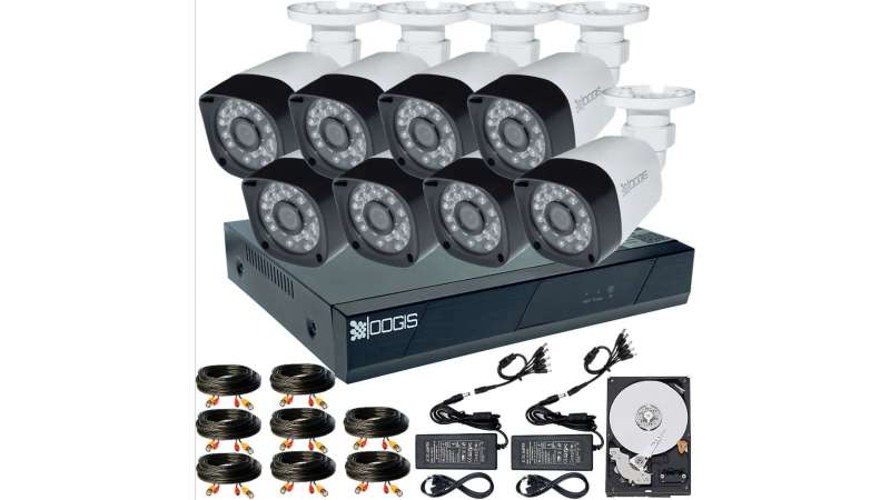 8 Camere 2MP 1080P IR 20m kit COMPLET supraveghere Exterior 1080N, acces mobil, noapte/zi (1x Inregistrator ESR-6208N; 8x Camere Exterior BEN-MHD2; 1x HDD500GB-R Stocare CADOU si accesoriile incluse)