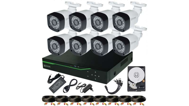 8 Camere 5MP 1920P IR 20m kit COMPLET supraveghere Exterior 1920N, acces mobil, noapte/zi (1x Inregistrator ESR-6508N; 8x Camere Exterior BEN-MHD54; 1x HDD320GB-R Stocare CADOU si accesoriile incluse)