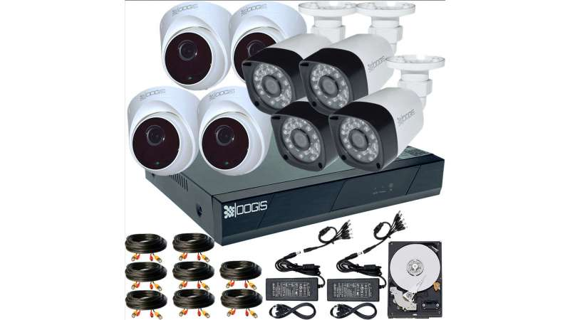 8 Camere 2MP 1080P IR 20m kit COMPLET supraveghere mixt 1080N, acces mobil, noapte/zi (1x Inregistrator ESR-6208N; 4x Camere Exterior BEN-MHD2; 4x Camere Interior HIP-MHD2-11; 1x HDD500GB-R Stocare CADOU si accesoriile incluse)
