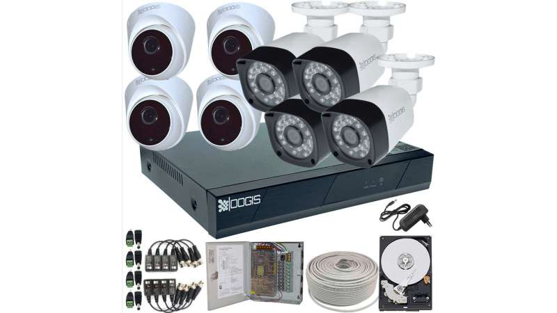 8 Camere 2MP 1080P IR 20m kit COMPLET supraveghere mixt 1080N extensibil la 16, acces mobil, noapte/zi (1x Inregistrator ESR-6516N; 4x Camere Exterior BEN-MHD2; 4x Camere Interior HIP-MHD2-11; 1x HDD500GB-R Stocare CADOU si accesoriile incluse)