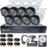 8 Camere 2MP 1080P IR 20m kit COMPLET supraveghere Exterior 1080N, acces mobil, noapte/zi (1x Inregistrator MHR-A6208; 8x Camere Exterior BEN-MHD2; 1x HDD320GB-R Stocare CADOU si accesoriile incluse)