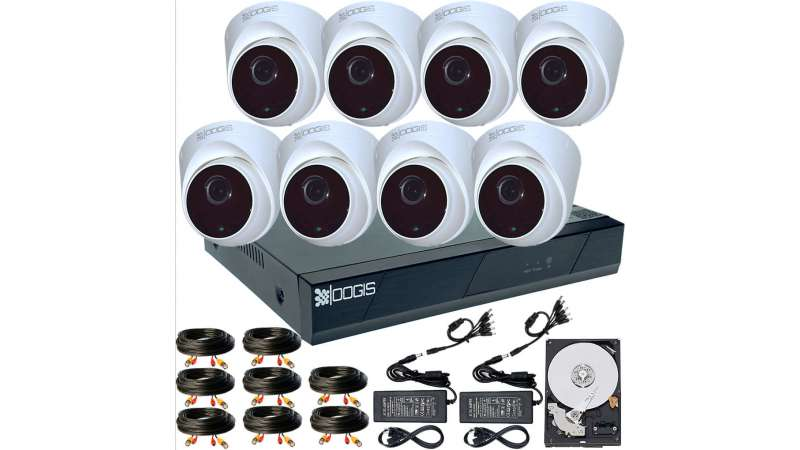 8 Camere 2MP 1080P IR 20m ARRAY kit COMPLET supraveghere Interior 1080N, acces mobil, noapte/zi (1x Inregistrator ESR-6208N; 8x Camere Interior HIP-MHD2-11; 1x HDD500GB-R Stocare CADOU si accesoriile incluse)