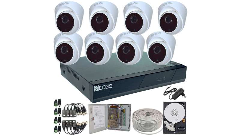 8 Camere 2MP 1080P IR 20m ARRAY kit COMPLET supraveghere Interior 1080N extensibil la 16, acces mobil, noapte/zi (1x Inregistrator ESR-6516N; 8x Camere Interior HIP-MHD2-11; 1x HDD500GB-R Stocare CADOU si accesoriile incluse)