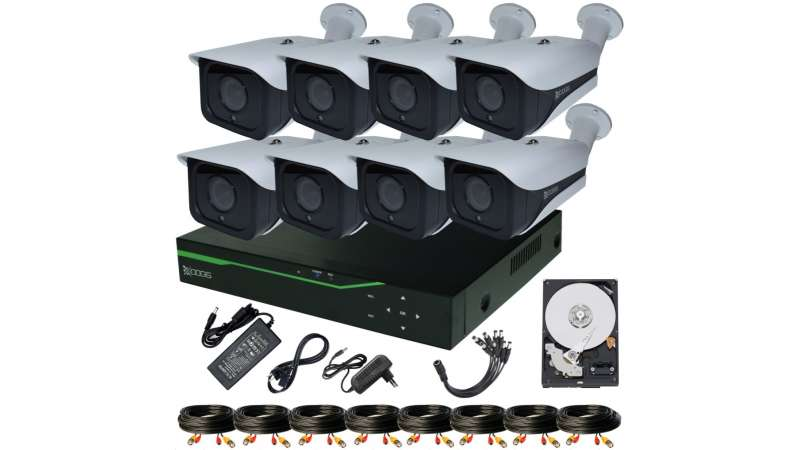 8 Camere 5MP 1920P IR 35m ARRAY kit COMPLET supraveghere Exterior 1920N, acces mobil, noapte/zi (1x Inregistrator ESR-6508N; 8x Camere Exterior RST-MHD54-9L; 1x HDD320GB-R Stocare CADOU si accesoriile incluse)