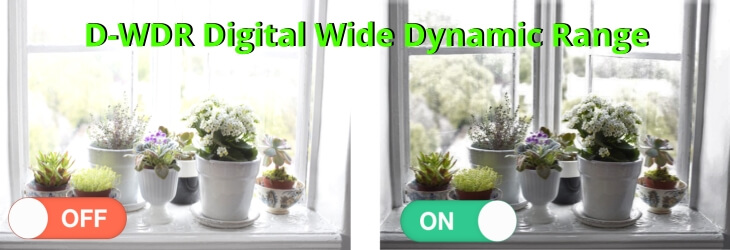 Functie D-WDR (Digital Wide Dynamic Range)