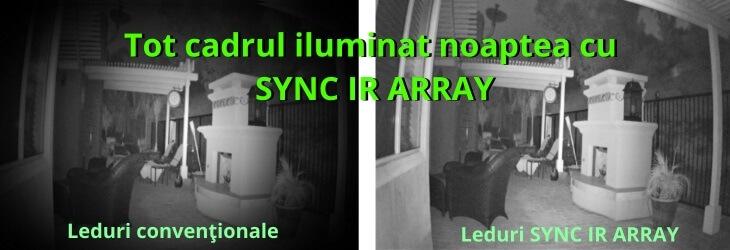 Tot cadrul iluminat noaptea cu SYNC IR ARRAY