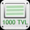 Rezolutie SD, Linii TV 1000 (CVBS)
