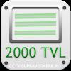 Rezolutie SD, Linii TV 2000 (CVBS)